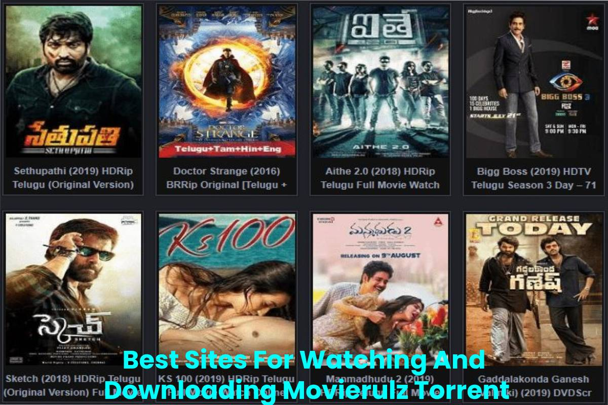 Best Sites For Watching And Downloading Movierulz Torrent